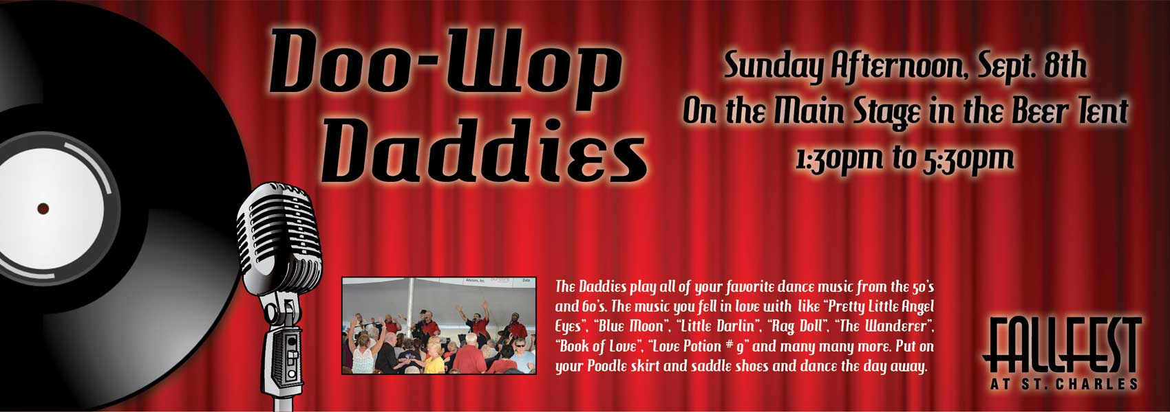 Doo-Wop Daddies - Sunday Sept 8th - 1:30 to 5:30pm - Main Stage