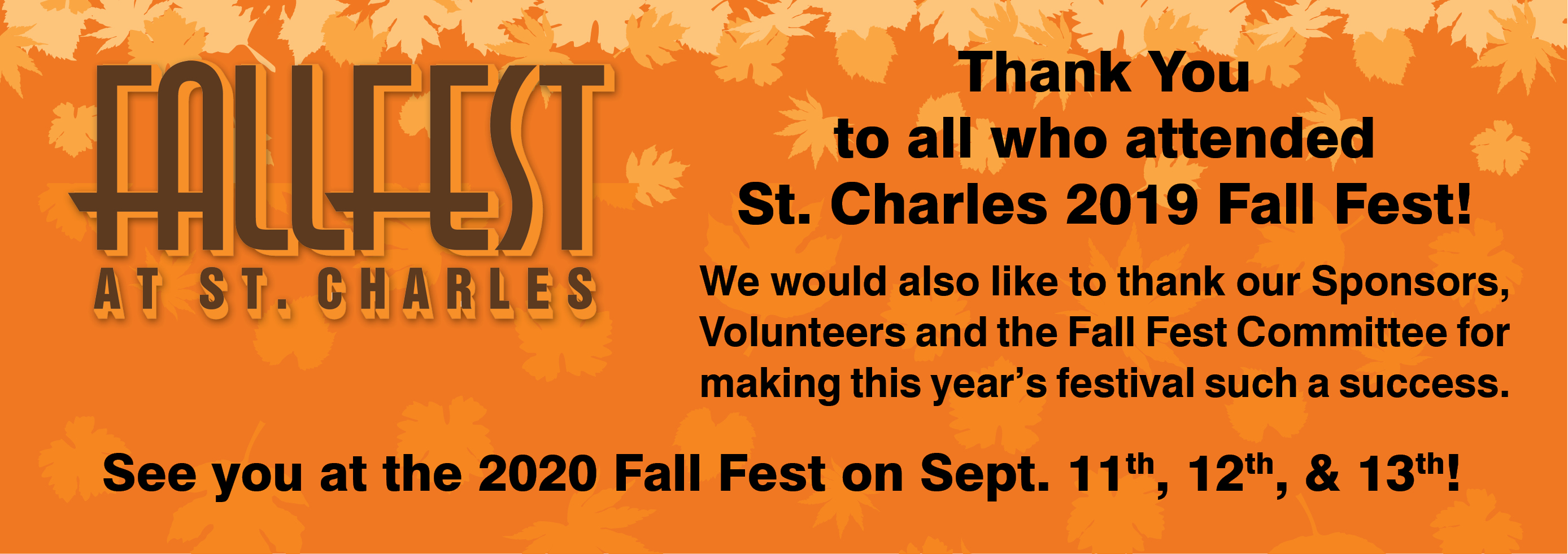 '2019 Fall Fest Thank You